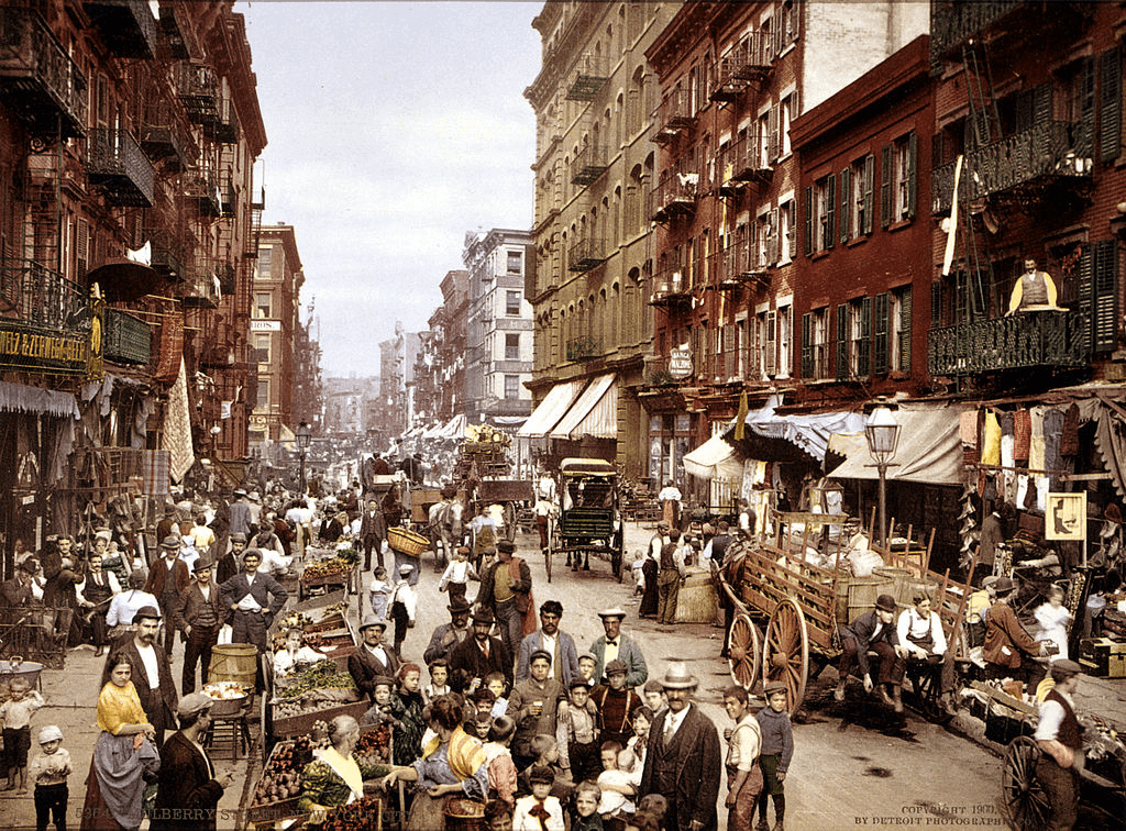 New York City - Mulberry Street - 1900